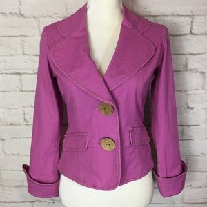 TULLE Wooden Button Blazer in Pink